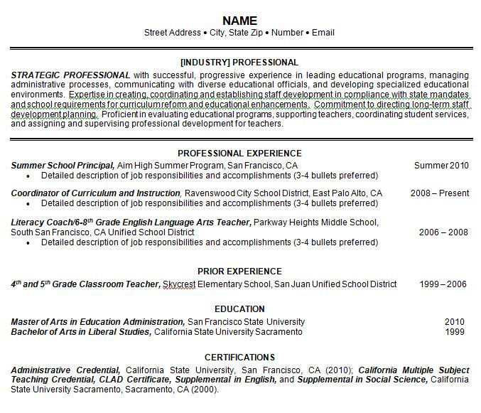 two column one page cv. 1 page. teacher resume template for word ...